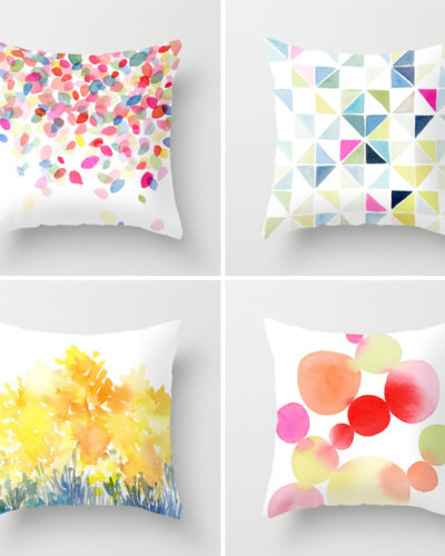 DIY on the Fly™-Decorative Watercolor Accent Pillows