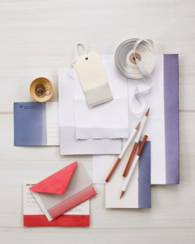 DIY on the Fly™- Dip-Dyed Stationery