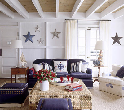 Home Interiors Styled in the Spirit of Red, White and Blue