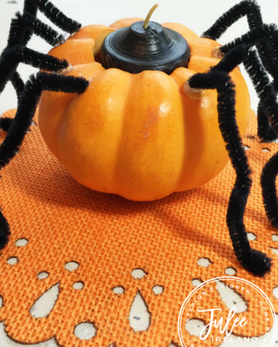 DIY  Halloween Spookdorable Spider Candle Holders–As seen on Good Day Columbus Fox 28