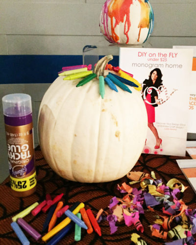 DIY on the FLY Crayon Pumpkin Craft