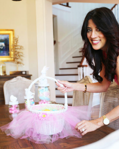 DIY on the FLY No Sew Easter Tutu Basket