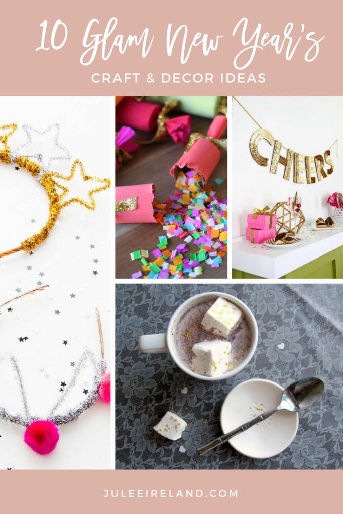 10 Glam New Year's Eve Craft & Decor Ideas | Julee Ireland